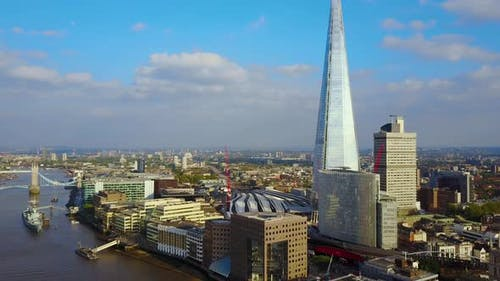 Aerial London Shard Skyscraper View