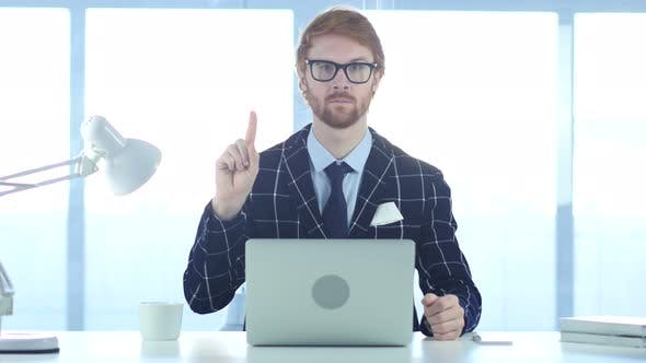 Thumbnail for Redhead Businessman Denying Offer by Waving Finger, Rejecting