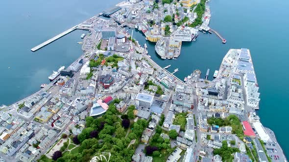 Thumbnail for City of Alesund Norway Aerial