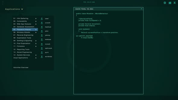 Hacker Screen with Multiple Windows Displaying Code Strings