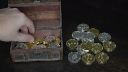 Bitcoin in der Schatztruhe