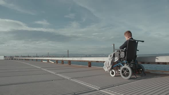 Cover Image for Lonely Ride in Wheelchair