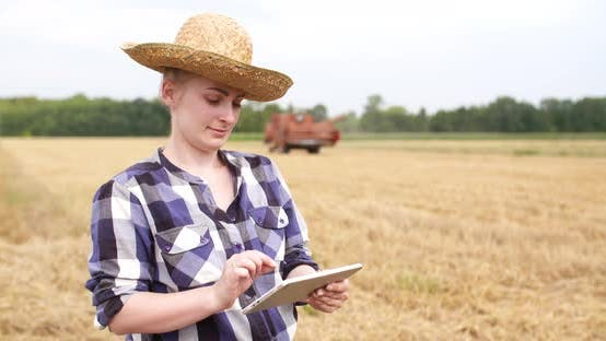 Thumbnail for Farmer Using Digital Tablet Agriculture