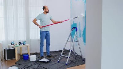 Masaking Blue Paint