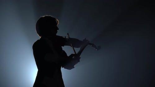 Violinist Plays a Lyrical Work