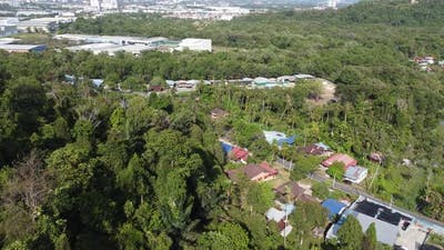 Aerial view Malays village