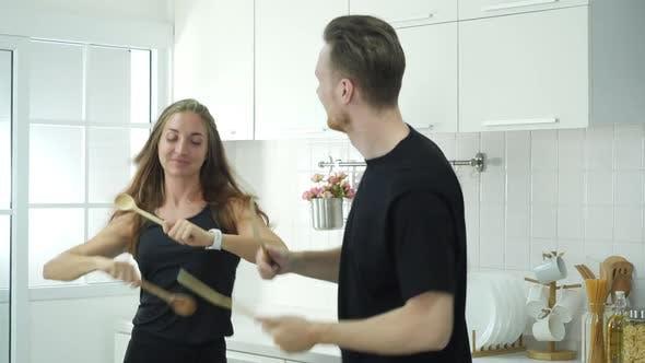 Enjoy in kitchen