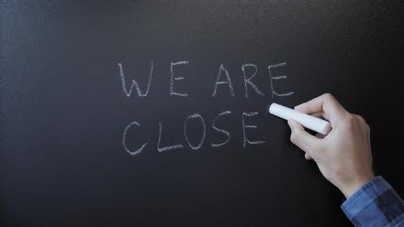 Handschrift Wir sind an Tafel geschlossen