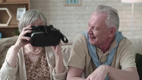 Thumbnail for Laughing Seniors Experiencing Virtual Reality