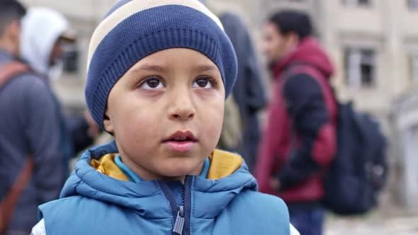 Adorable Refugee Boy