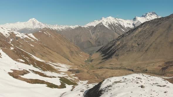 Thumbnail for K Azbegi National Park Juta Valley Panorama.Ascending Aerial