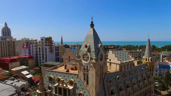 Thumbnail for Beautiful Building Against Cityscape with Sea at Horizon, Luxury Hotel in Batumi