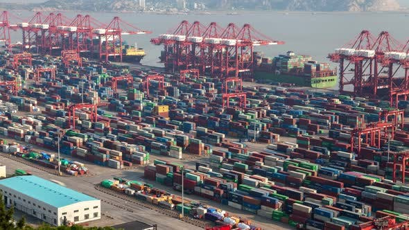 Thumbnail for Yangshan Shanghai Container Port Terminal Pan Up
