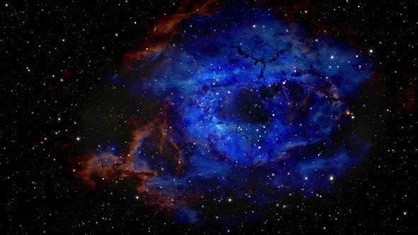 4k Flying Through Stars In Nebula