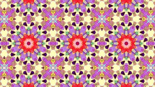 Colorful Stained Glass Kaleidoscope Loop 4K 13