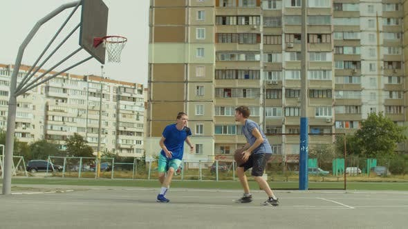 Thumbnail for Streetball Player Taking Jump Shot on Basketball Court