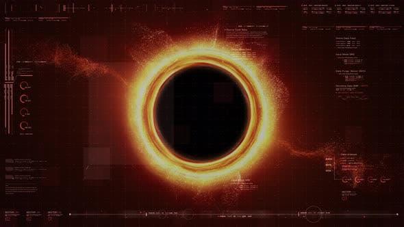 Thumbnail for Futuristic Black Hole Simulation HUD 01