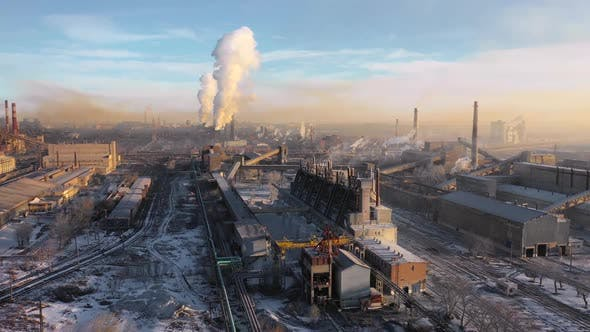 Cover Image for Aerial View of a Heavy Industry District. Ecology Concept