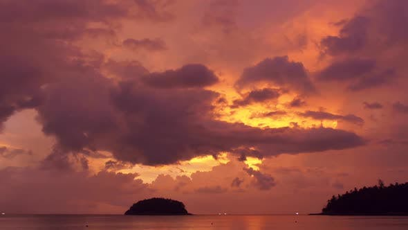 Colorful Tropical Sky Time Lapse