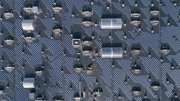 Thumbnail for Green Technology Energy, Eco Solar Arrays on Roof of House Outdoors, Aerial View