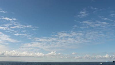 Timelapse White Clouds in the Blue Sky