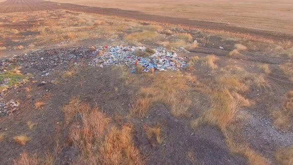 Field Littered With Garbage