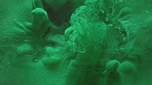 Colored Vapor Overlay Green Liquid Splash Effect
