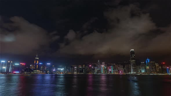 Thumbnail for Hong Kong, China | Wide angle view of the Skyline at night