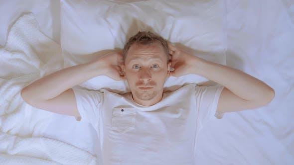 Male Awake in Hotel