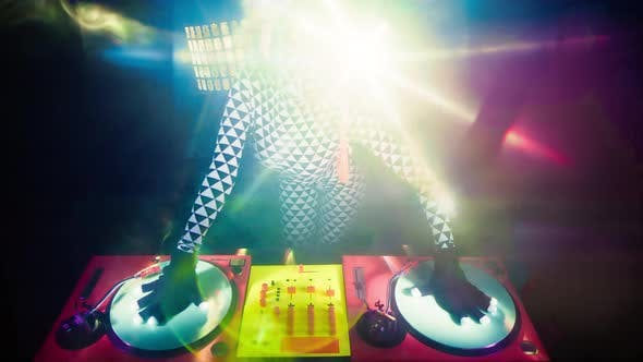 Glow UV DJ Party Music Fluorescent Woman Disco Ultra Violet