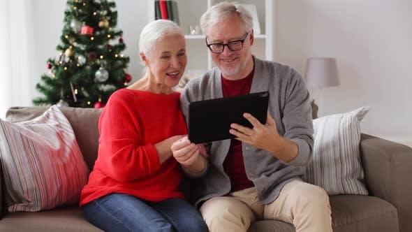 Thumbnail for Senior Couple Having Video Call on Christmas