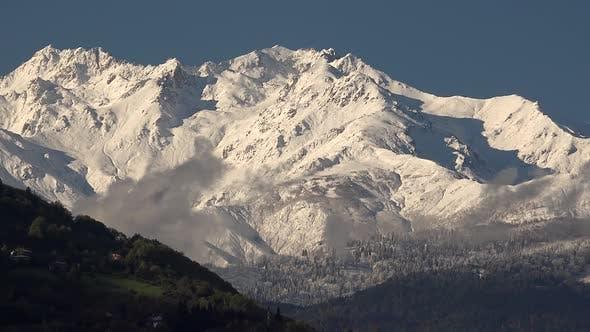 One Piece of Big Snowy Mountain Mass