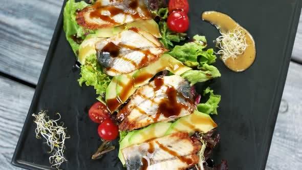 Salad Smoked Eel Lettuce