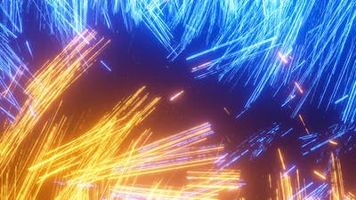 Electric light abstraction in the form particles discharges