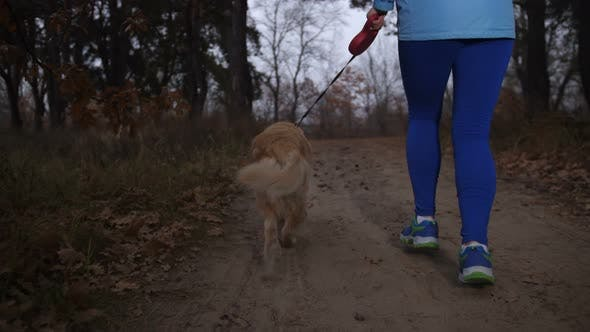 Thumbnail for Active Healthy Girl Running Outdoors with Her Dog