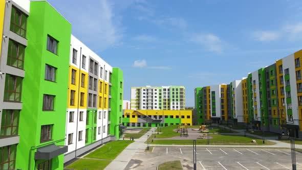 New Neighborhood, New Multi Storey Residential Buildings.