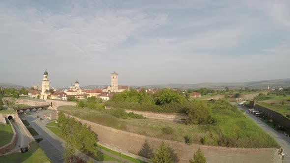 Aerial view of the Alba Iulia citadel