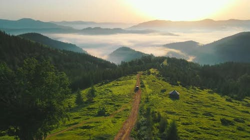 Morning Landscape in the Mountains
