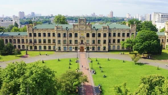 Thumbnail for Kiev Polytechnic Institute (KPI) at Summer. Aerial Footage