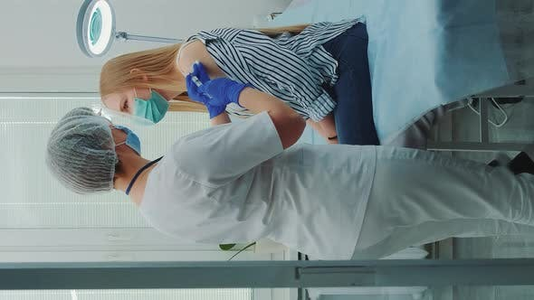 Thumbnail for Young Woman Getting Coronavirus Vaccine in Hospital