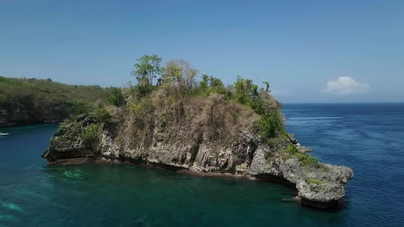 Thumbnail for Aerial View Crystal Bay, Seascape, Rocks, Cliff, Ocean