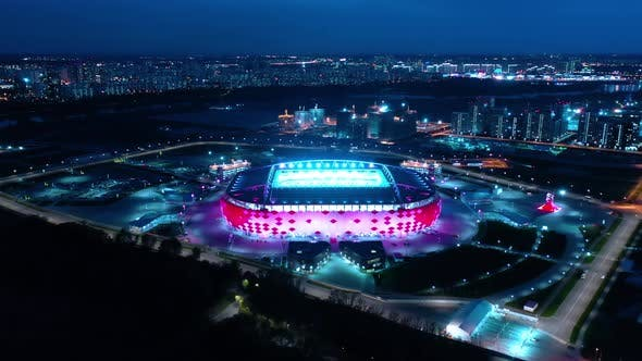 Thumbnail for Freeway Intersection and Football Stadium Spartak Moscow Otkritie Arena