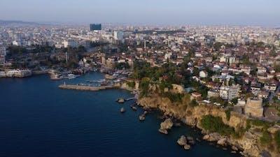Panorama of Resort Town on Mediterranean Coast