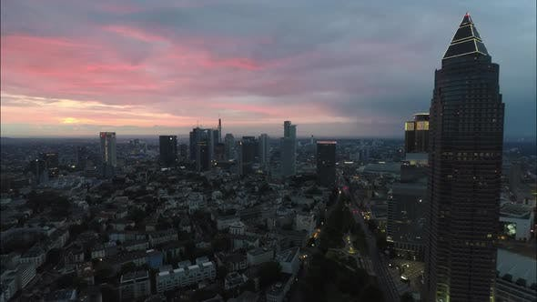 Thumbnail for Night to Day Time Lapse of Beautiful Sunrise over Frankfurt am Main, Germany