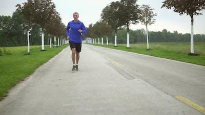 Slow Motion Jogging Man