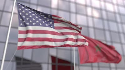 Flags United States Morocco
