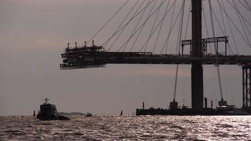 Construction Of A Bridge Across The Strait