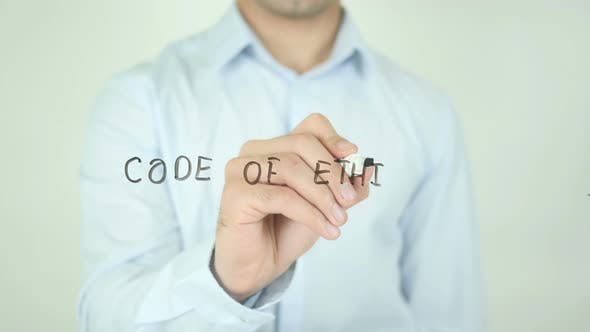Thumbnail for Code of Ethics, Writing On Screen