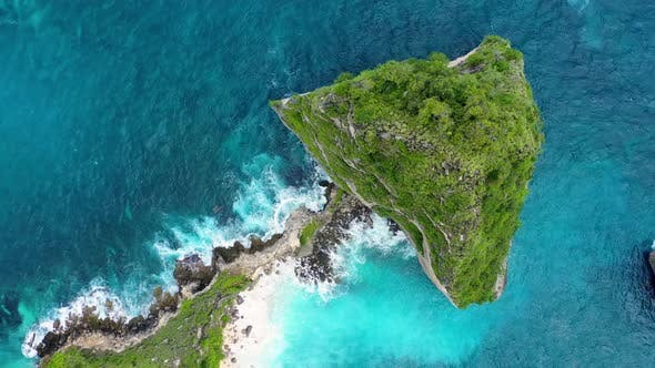 Thumbnail for Aerial view at sea and rocks. Nusa Penida, Bali, Indonesia. Seascape from air