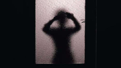 Child Silhouette Looking Inside Room, Curious About Strange Noise, Burglary